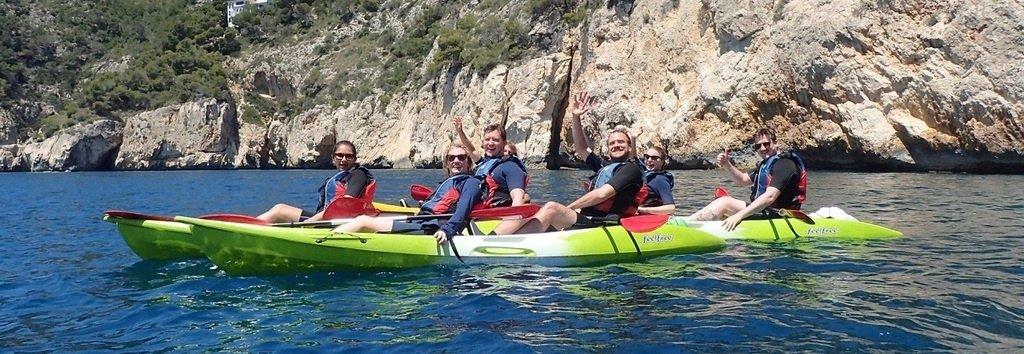 Excursiones Guiadas en kayak Snorkeling Javea Xavia